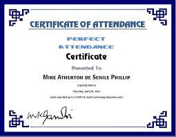 Attendance Award Template Perfect Attendance Certificate Template Word Excel Templates