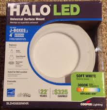 cooper lighting halo 4 sld405830whr recessed led surface disk light