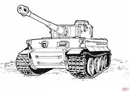 Small Picture Tiger Tank coloring page Free Printable Coloring Pages