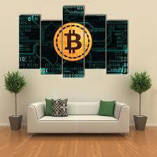 <b>Canvas HD Print</b> Painting <b>Modular</b> Pictures 5 Panel Symbol ...
