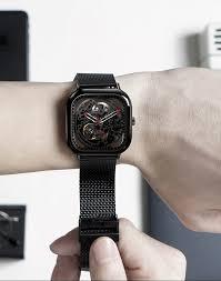 Ciga Design My Mechanical Watch Skeleton Mechanical Watch Full Hollow Black
