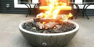 propane fire pit gray table diy