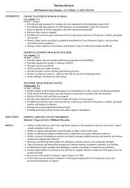 Science teacher resume sample example job description teaching. School Teacher Resume Samples Velvet Jobs