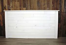white shiplap headboard