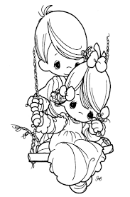Printable Coloring Pages More Precious Moments