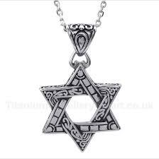 titanium star of david pendant with free chain