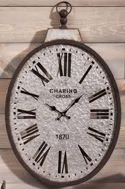oval pocket watch wall clock