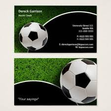 Soccer Business Card Soccer Coach Sports Gifts Business Card Zazzle Com