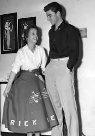 rick nelson and fan at shamrock hilton houston texas 1958 from
