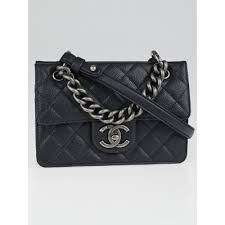 Chanel Black Quilted Caviar Leather Retro Class Small Flap Bag ... & Chanel Black Quilted Caviar Leather Retro Class Small Flap Bag Adamdwight.com