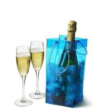 portable ice bag wine beer rapid cooler bag durable transpa clear pvc champagne ice bags pouch with handle outdoor chiller cooling bag uk 2019 from