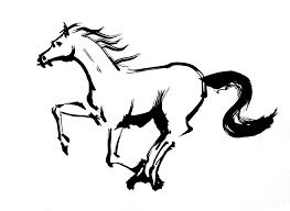 2014年年賀状の干支 馬のイラスト3 アトリエ画牛ブログ イラスト