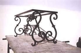 decorative wrought iron table legs
