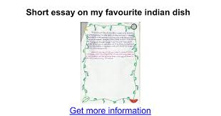 short essay on my favourite n dish google docs