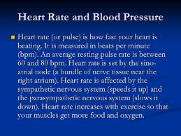 Pulse Rate And Blood Pressure Chart Heart Rate And Blood Pressure Heart Rate Or Pulse Is How