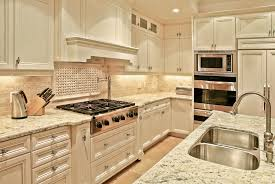 modern luxury kitchen with white cabinetarble countertops