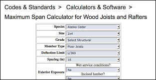 Load Bearing Chart For Lumber Online Calculators Help Cover Deck Load Requirements Fine