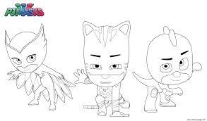 Pj Masks Superheroes Coloring Pages Printable