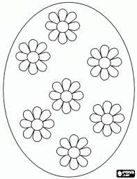 Groot Paasei Versierd Met Madeliefjes Kleurplaat Pasen Pasen