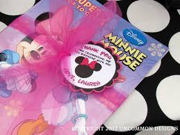 Pink And Black Minnie Mouse Decorations A Minnie Mouse Birthday Party Uncommon Designs