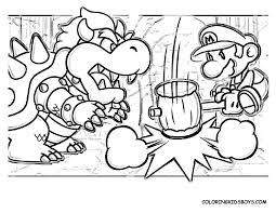 Mario Coloring Pages Bowser Free Large Images