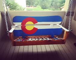 Painted Sky Designs Swings Colorado Snowboard Porch Swings Hand Painted And Beautiful