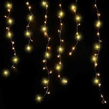 Luca Lighting Lichtsnoer Extradun Van 1 Meter Met Extra Lange Ijspegels En 96 Lampjes Warmwit Inclusief Adapter