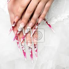Fototapeta Svatba Design Na Nehty Nevěstu