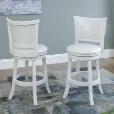 bar height swivel stools. Contemporary Swivel White Wash Counter Height Swivel Bar Stool Set Of 2 Inside Stools K