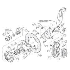 Wilwood drag race plain rotor forged dynalite caliper front brake kit