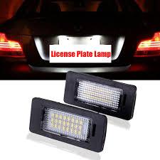 Bmw X5 License Plate Light Replacement Details About E39 E60 E61 E90 E92 X5 X6 24 Led License Registration Plate Light For Bmw