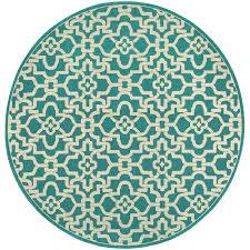 round outdoor rug seaside rugs blue safavieh canada