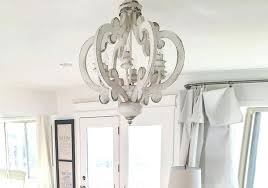 distressed white wooden french farmhouse chandelier with 6 bulbs bevolo farmhouse orb chandelier