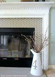 how to install glass tile fireplace surround subway can be used on comely decoration ideas with
