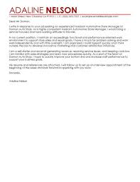 best assistant store manager cover letter examples livecareer assistant store manager cover letter examples