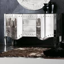 art deco style venetian mirrored glass sideboard