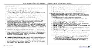 Physical Therapy Speech Pathology Survey Report Cms 1893 Pdf