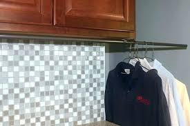 pull out closet hanger retractable closet rod pull down hanging rods hang laundry with an easy