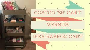 Costco SR Cart VS. IKEA Raskog for Planning Supplies