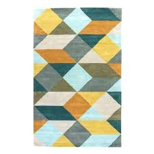 white geometric rug area rugs black and brown bla
