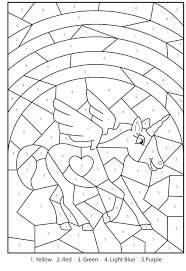Coloring Pages Free Of Color By Number Adult Within Spring ...