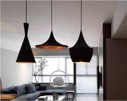 tom dixon style lighting. Tom Dixon Style Beat Pendant Lamp 3 Pcs./ Black Lighting