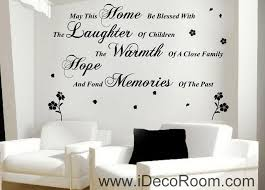 may this home removable wall art quotes vinyl decal stickers home decor mural on wall art murals vinyl decals stickers with may this home removable wall art quotes vinyl decal stickers home