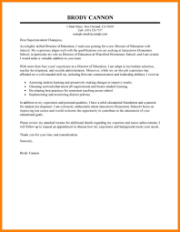 9 Education Cover Letter Examples Offecial Letter