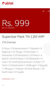 Airtel Dth 999 Plan Channel List
