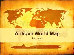 Antique World Map Editable Powerpoint Template