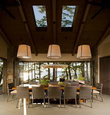 skylight lighting. View In Gallery Captivating Dining Room With Gorgeous Views And Twin Skylights [Design: Christian Grevstad] Skylight Lighting 2