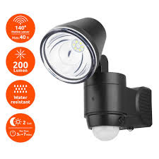 link2home super bright black 200 lumen motion activated outdoor single head led 6500k battery powered