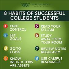 setting students up for success missouri william woods university habits of successful college students a helpful list that belenchia created for the full