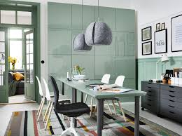 A Green And Grey Home Office Space With ÅMLIDEN/ALVARET In Grey-green/  Ikea a